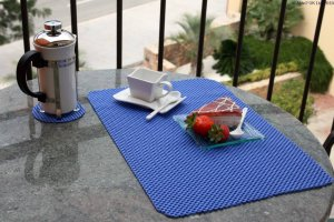 StayPut Non-Slip Tablemat (x4) and Coaster (x4) Set