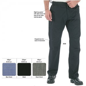 Le Chef Easi Fit Chef Trousers Mens