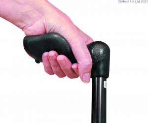 Arthritis Grip Cane Adjustable Black