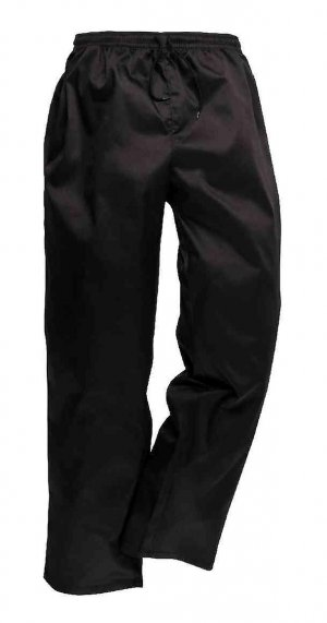 Chef Drawstring Trousers Black