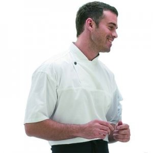 Chef Tunic Style Jacket Short Sleeve