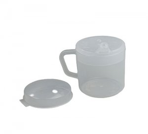 One Handle Cup with 2 Lids Blue
