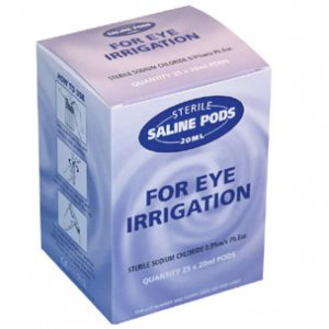 Emergency Eye Wash Saline Pods 20ml