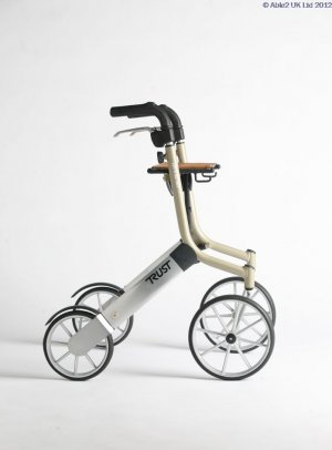 Rollator Lets Go Out - Beige/Siver