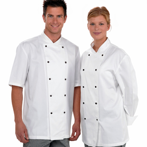Lightweight Chef Jacket Long Sleeve White