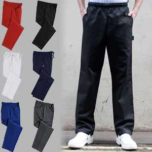 Dennys Unisex Elasticated Chefs Trousers DC18