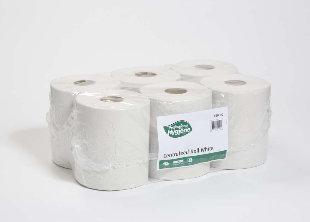 Centrefeed Paper Roll White/6