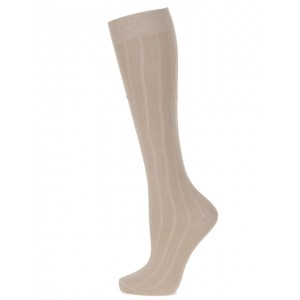 Extra Roomy Cotton-rich Knee High Socks/2prs EX