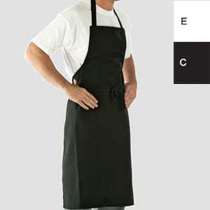 Bib Apron Long Life in Black and White