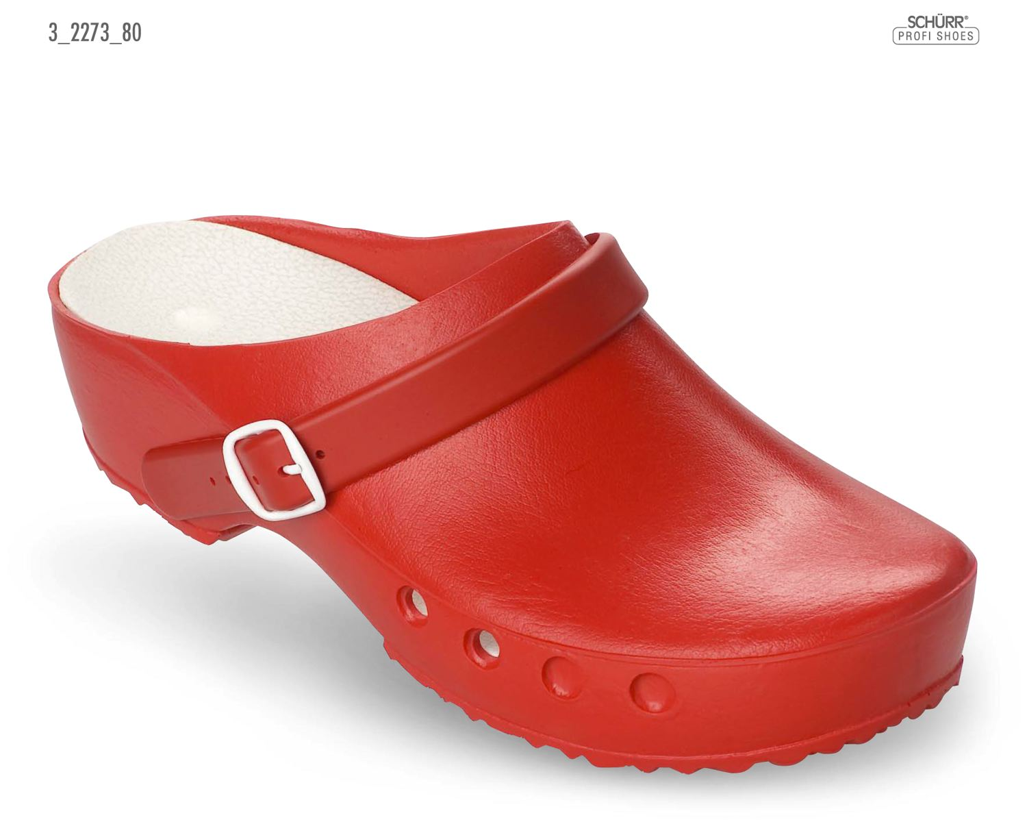 Schurr Washable Clog Classic Red 2273