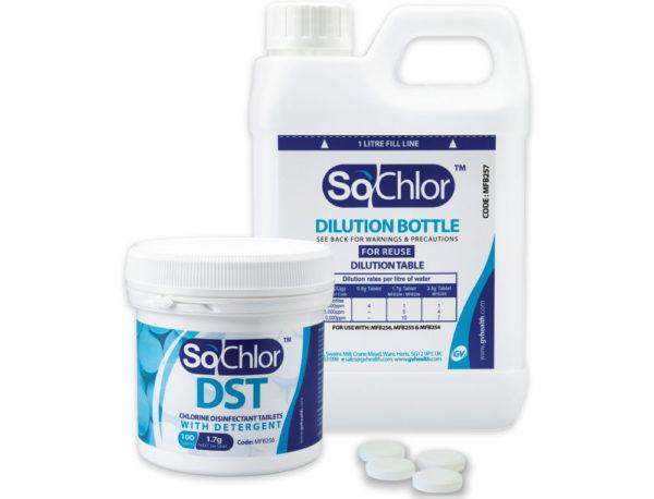Detergent sanitiser tablet